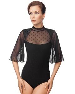 Женское боди чёрного цвета Viva La Donna Б 14-1