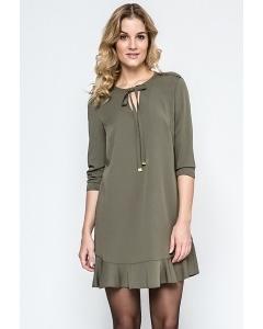 Женское платье с оборкой Enny 240079