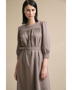 Коричневое платье свободного кроя Emka PL847/albeci