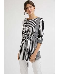Длинная блузка в полоску с асимметричным низом Emka B2403/middletown