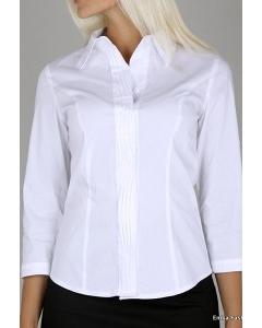 Белая женская рубашка Emka Fashion B003/01
