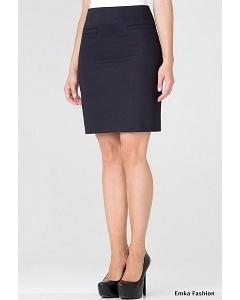Прямая юбка синего цвета Emka Fashion 494-bambina