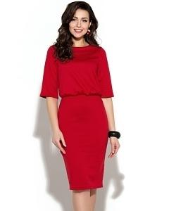 Красное трикотажное платье Donna Saggia DSP-01-29t