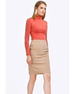 Бежевая хлопковая юбка Emka S686/gregoriya