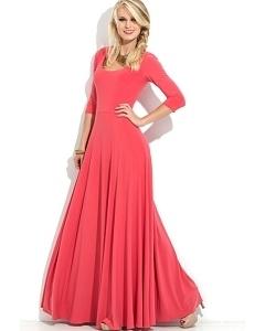 Длинное трикотажное платье Donna Saggia DSP-121-30t