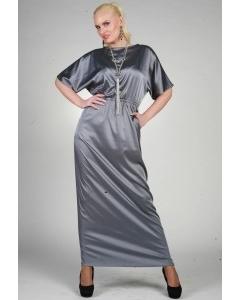 Длинное серебристое платье Chertina&Durre