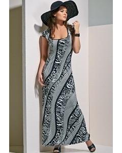Длинное платье из трикотажа TopDesign A4 016