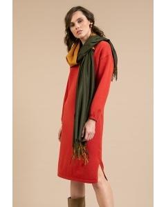 Трикотажное платье терракотового цвета Emka PL989/ringring