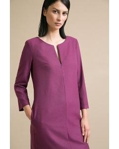 Однотонное платье прямого кроя Emka PL924/sofari