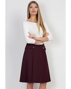 Бордовая юбка Emka Fashion 576-rozana