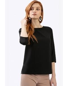 Блузка черного цвета прямого кроя Emka B2354/benjamin