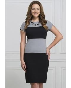 Чёрно-серое платье Rosa Blanco 3015