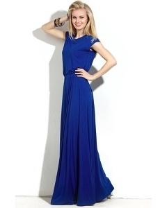 Длинное платье синего цвета Donna Saggia DSP-150-37t
