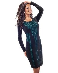 Чёрное платье Enny 18025