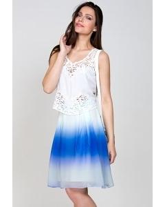 Бело-синяя юбка Emka Fashion 322-nemezida