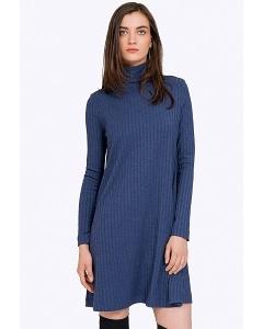 Короткое синие платье с длинными рукавами Emka PL829/puria