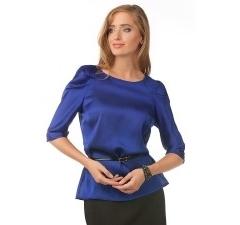 Блузка из синего шифона