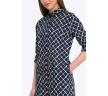 Платье-рубашка в клетку Emka PL601/dionisa