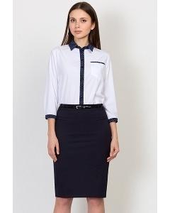 Тёмно-синяя юбка-карандаш Emka Fashion 559-valentina