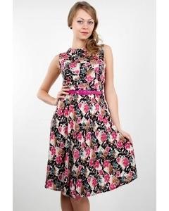 Летнее платье в цветочек Golub П190-2301