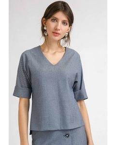 Блузка синего цвета Emka B2458/bernas
