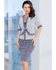 Женский костюм юбка+жакет TopDesign Premium PA7 02