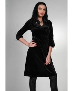 Черное бархатное платье   9942