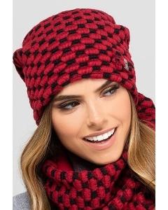 Чёрно-красная шапка Kamea Boston