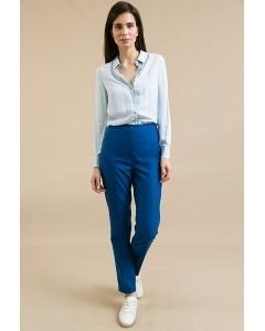 Синие брюки с высокой посадкой Emka D171/avora