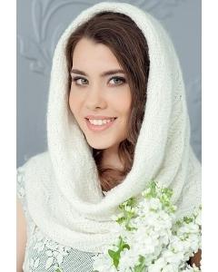 Снуд молочого цвета Landre Уника