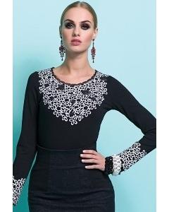 Черная блузка с длинным рукавом Zaps Sasha