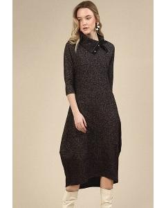 Темно-серое платье-баллон Emka PL796/samira