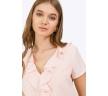 Блузка бледно-розового цвета из легкой ткани Emka B2413/florentina