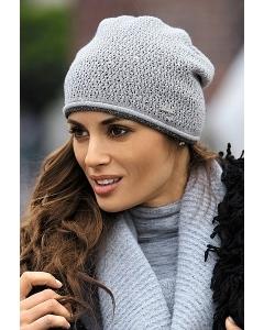 Светло-серая шапка Kamea Benita
