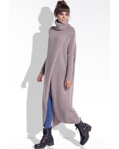 Длинный свитер с высоким воротом Fobya F343