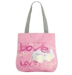 Розовая пляжная сумка | ЛЛ-101