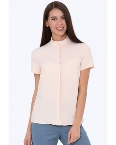 Персиковая женская блуза Emka b 2243/olimpiya