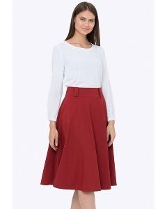 Расклешенная юбка красного цвета Emka 505/tango