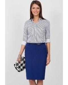 Синяя юбка Emka Fashion 546-afriza