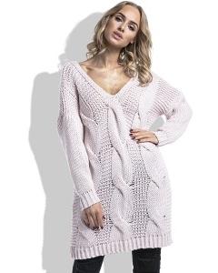 Длинный розовый свитер Fimfi I232