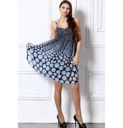 Голубое платье из шифона