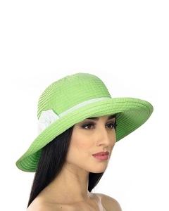 Салатовая шляпа Del Mare 001-27