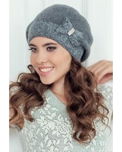 Женская шапка серого цвета Landre София