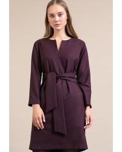 Платье прямого кроя с поясом Emka PL950/cario