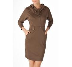 Серо-коричневое платье
