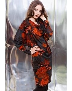 Шикарное черно-красное платье TopDesign Premium PB3 15