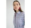Платье-рубашка в полоску c асимметричным низом Emka PL892/lawrence
