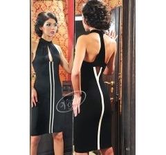 Черное коктейльное платье V&V
