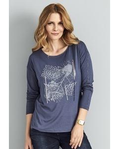Трикотажная блузка с принтом Sunwear A43-5-15
