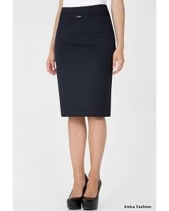 Юбка-карандаш тёмно-синего цвета Emka Fashion 369-witni